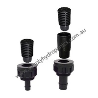 Flood and Drain fittings W/Screen and Extension (19mm)