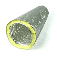 Acoustic Duct  (insulated) Sizes 150mm to 355mm Prices start at $29.00