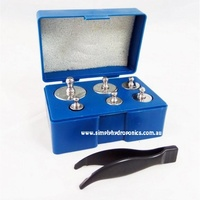 SET OF SIX WEIGHTS FOR DIGITAL SCALE CALIBRATION