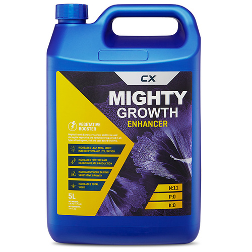 Mighty Growth Enhancer - 5Ltr - Hydroponic Nutrient Additive